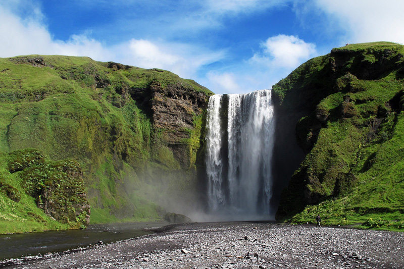 Mejore paisajes de Islandia - Cascada Skogafoss