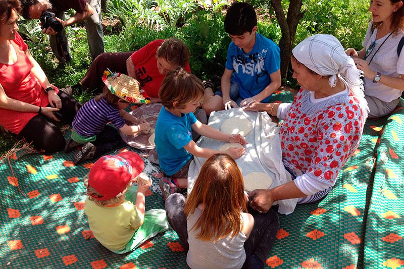 Taller en Djblea - Marruecos con niños